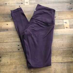 Black and Purple High Rise Wunder Under (Size 4)